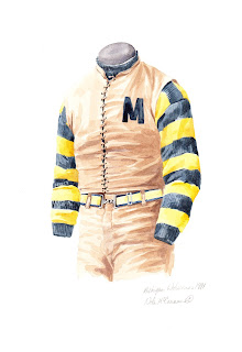 1891 University of Michigan Wolverines football uniform original art for sale