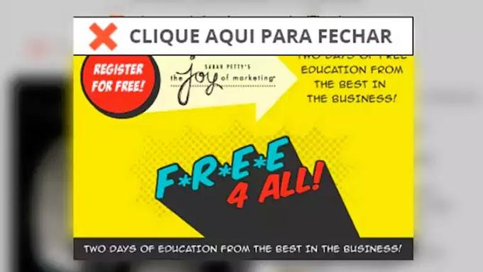 Saiba como bloquear o banner 'Free 4 All' em sites