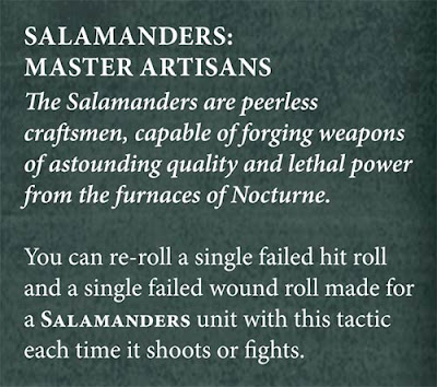 8th edition space marine chapters tactics salamanders