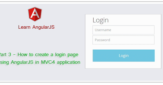 Part 3 - How to create a login page using AngularJS in MVC4