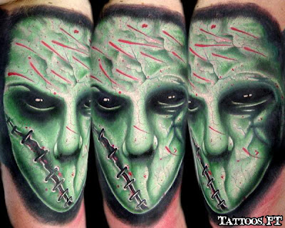 alien cara verde a tatoo