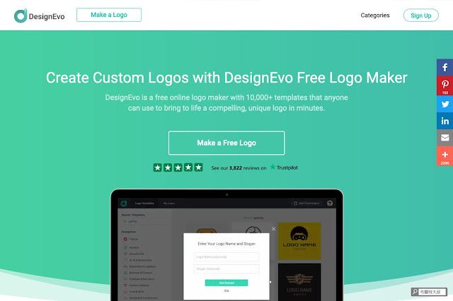 【行銷手札】創業者的好夥伴,品牌 Logo 設計服務 DesignEvo - 透過 DesignEvo 的資料庫,任何人都能輕易設計出有質感的 Logo