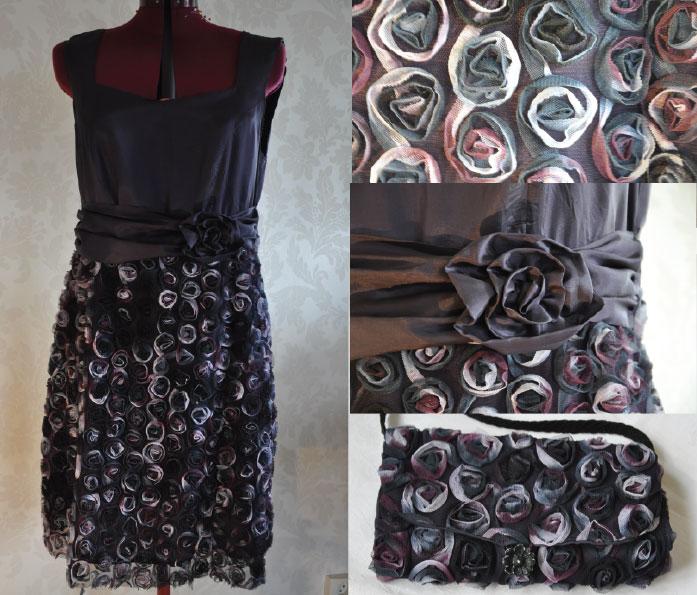 509bcd68 En lilla kjole som jeg har sydd av stoff fra tøymarkedet i Utrecht,  Holland. I midjen har den løst belte med rosett. I tillegg sydde jeg en  liten veske som ...