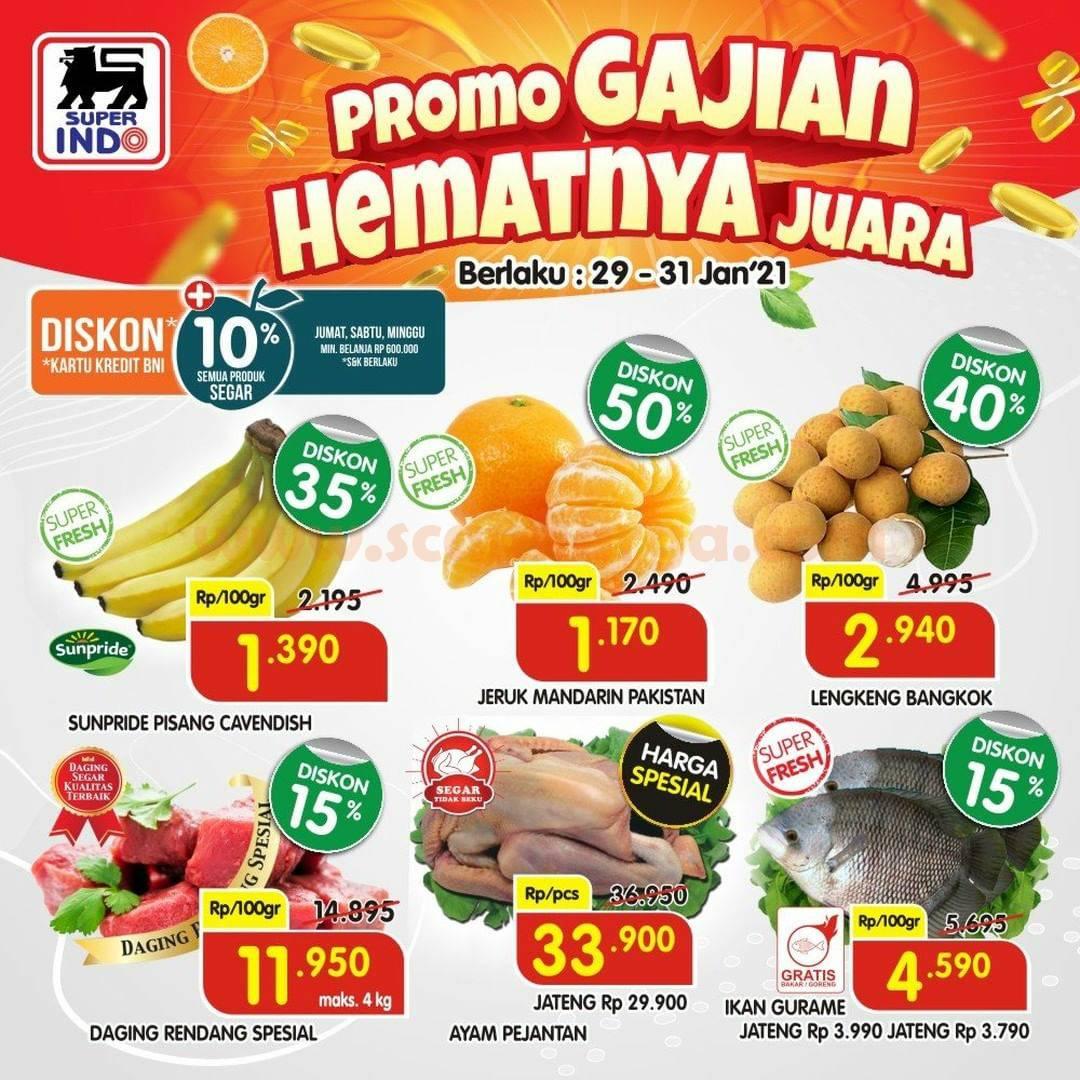 SUPERINDO Promo GAJIAN Hematnya Juara Periode 29 - 31 Januari 2021