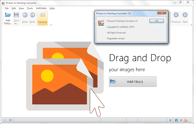 Screenshot SoftOrbits Picture to Painting Converter 2.0 Full Version