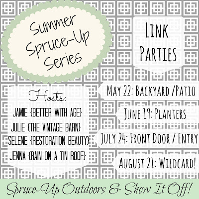 Summer Spruce-Up Series: Backyard & Patio Link Up {rainonatinroof.com} #summer #backyard #patio #linkparty