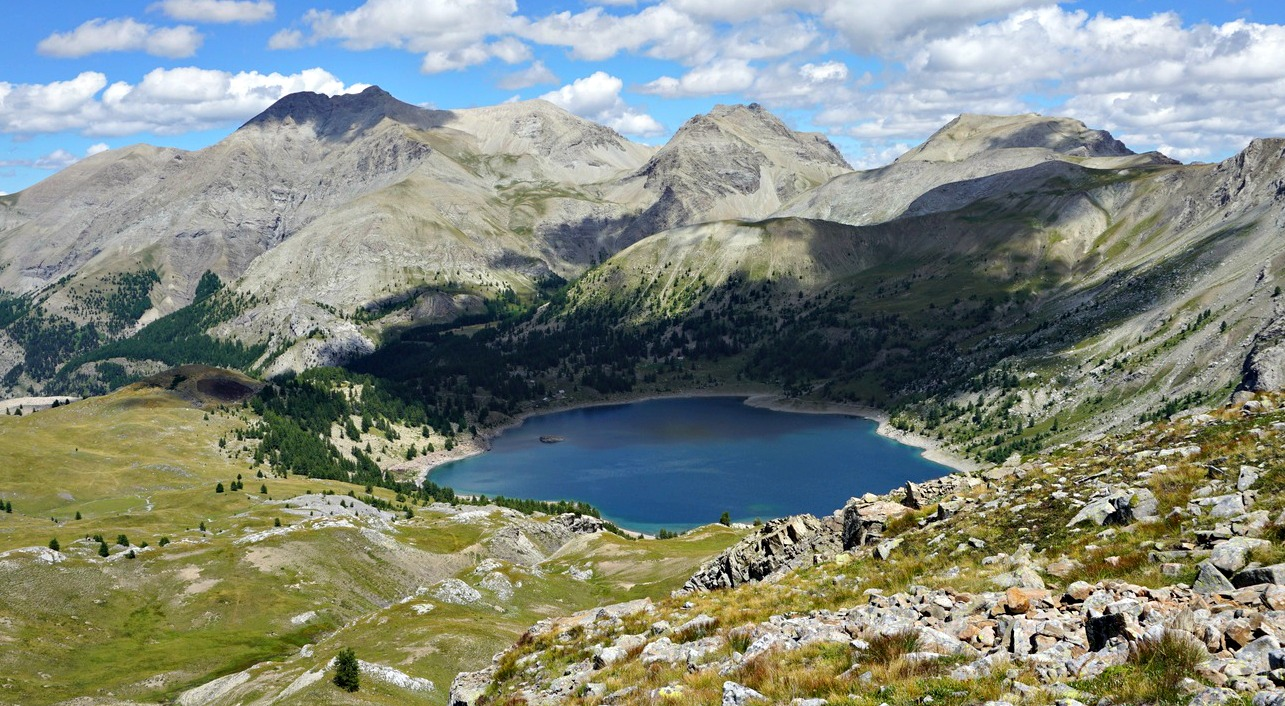 Lac d'Allos viewed from Col d'Encombrette
