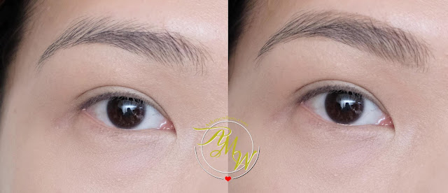 before and after photo of IT Cosmetics Brow Powder Universal Brow Pencil Review