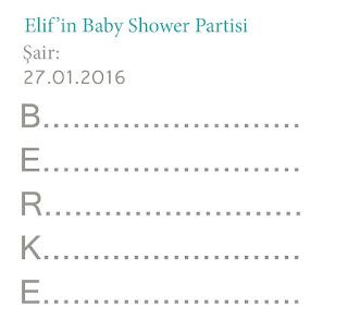 akrostiş şiir baby shower