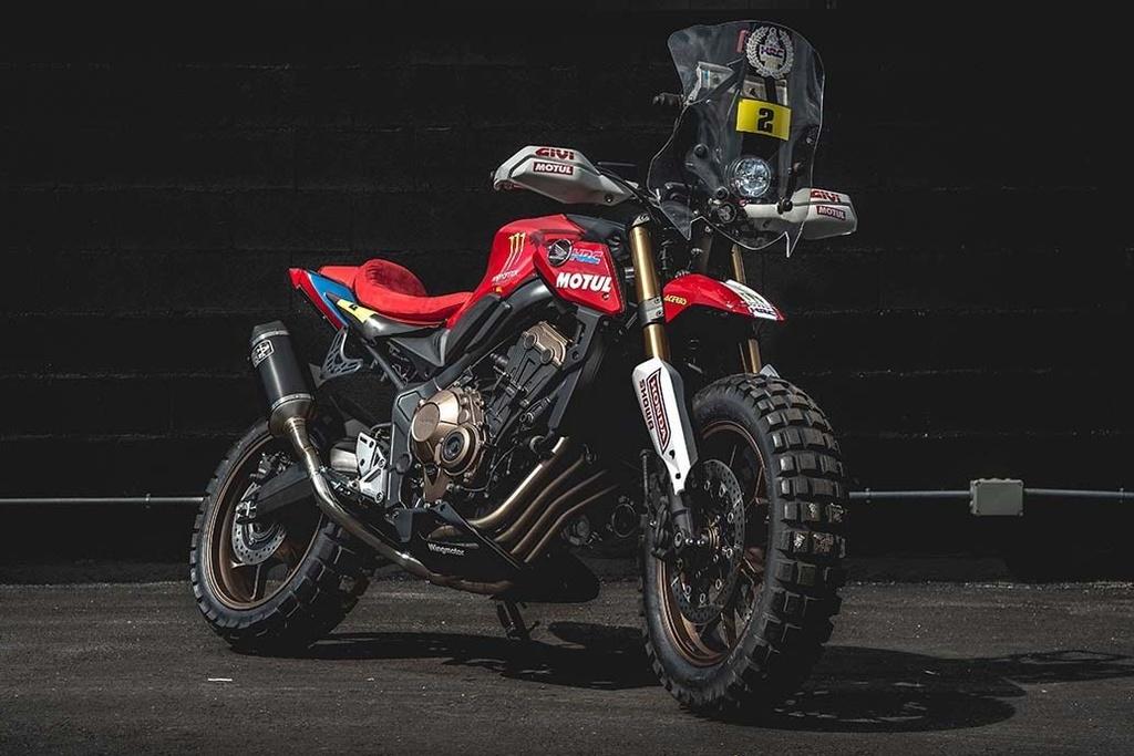 Chi tiết Honda CB650R độ thành môtô địa hình hầm hố
