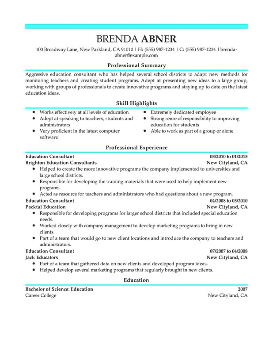 Resume For College Interview Zrom