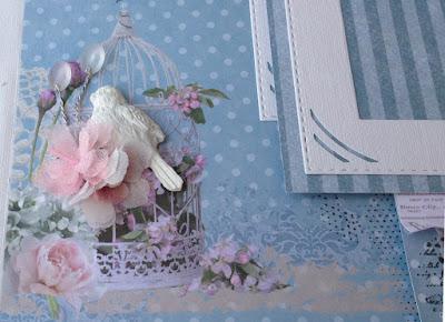 Скрапбукинг альбом scrapbooking album Fleur Design hand-made flowers