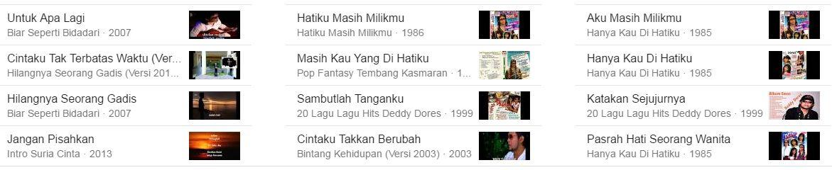 Kumpulan Lagu TOP Almarhum Deddy Dores Hits