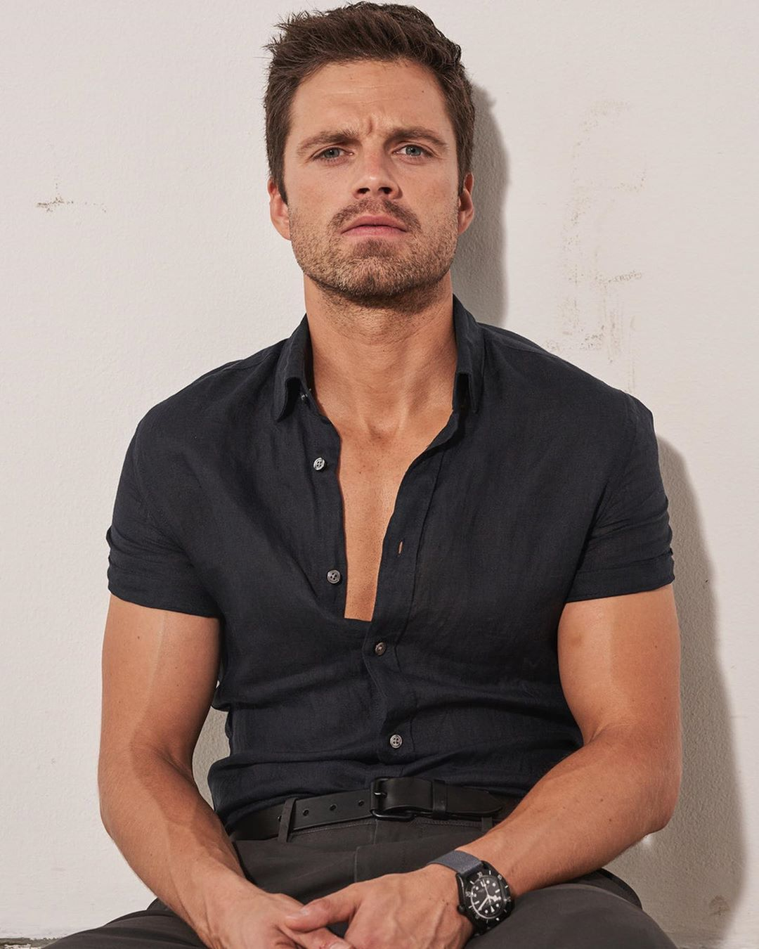 My New Plaid Pants Sebastian Stan Two More Times