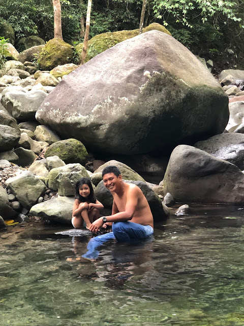 Father and daughter at Natural Pool at Orani River