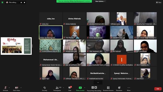 Berbagi Pengalaman Dapatkan Beasiswa, Forshei Adakan Inspirative Talk Secara Virtual