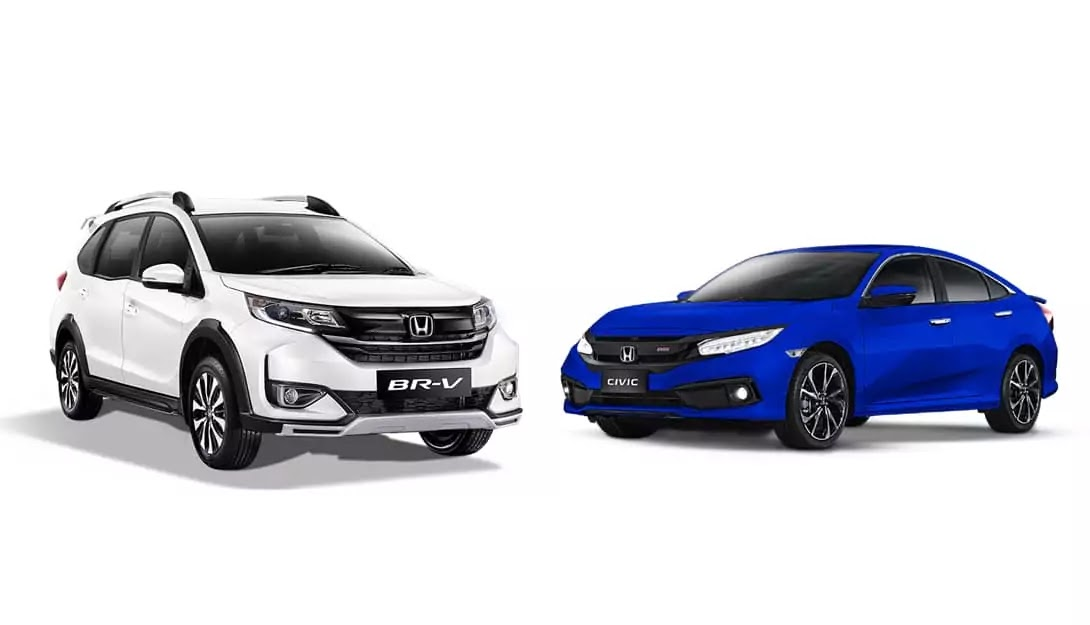 Limited Edition Honda BR-V Prestige and Civic RS Turbo in Brilliant Sporty Blue