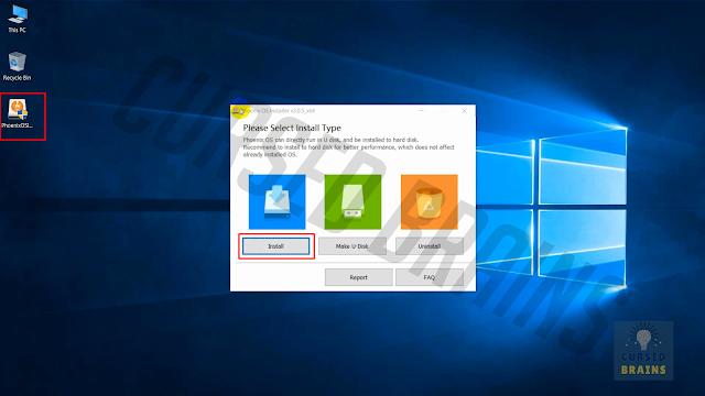 Phoenix OS - Downloaded setup file installation