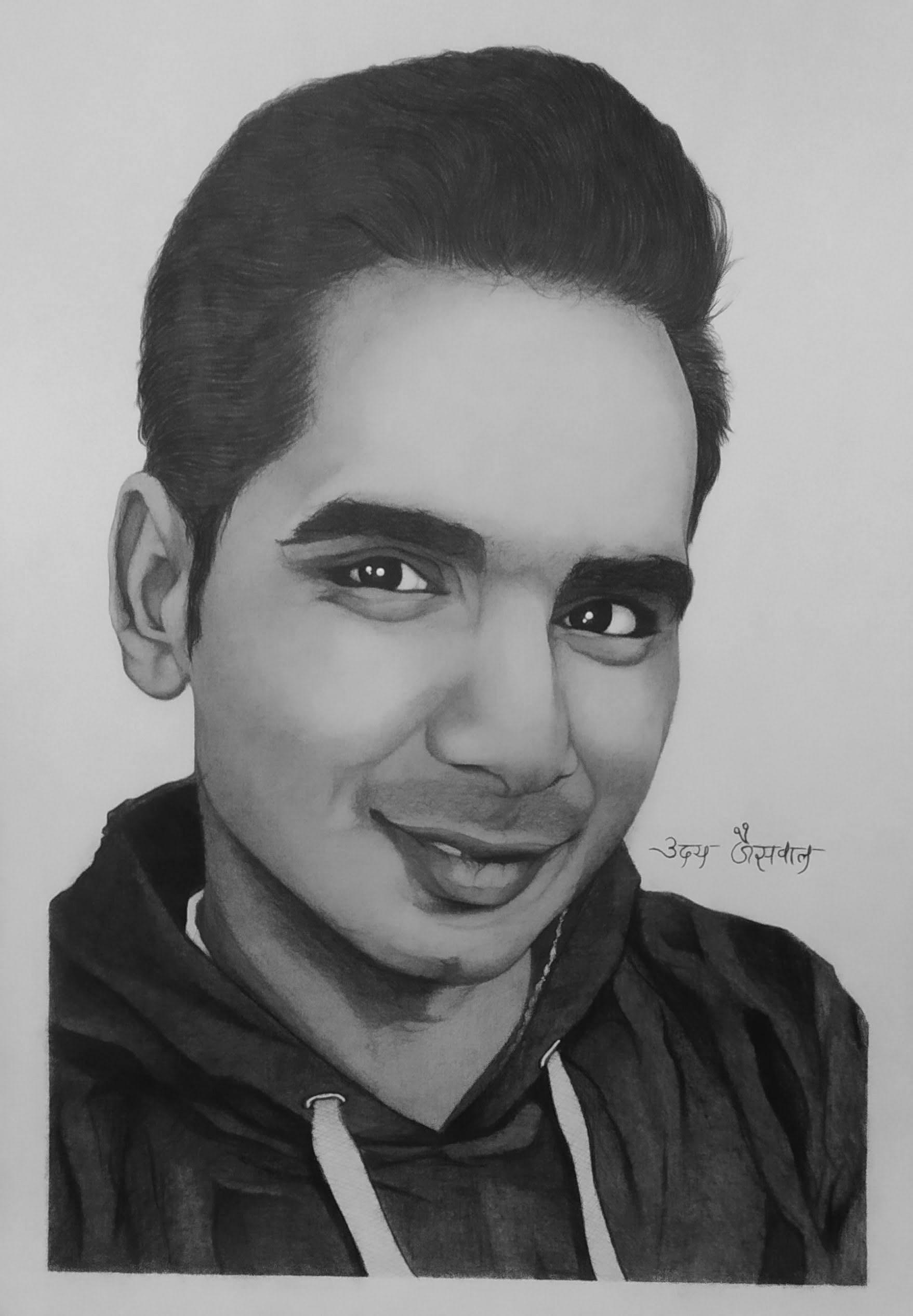 Mr. Nitin Rathore Pencil Portrait
