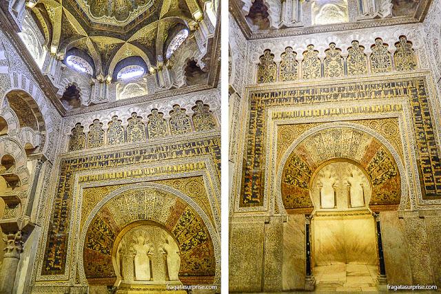 Mihrab (nicho que aponta a direção de Meca) da Mesquita de Córdoba