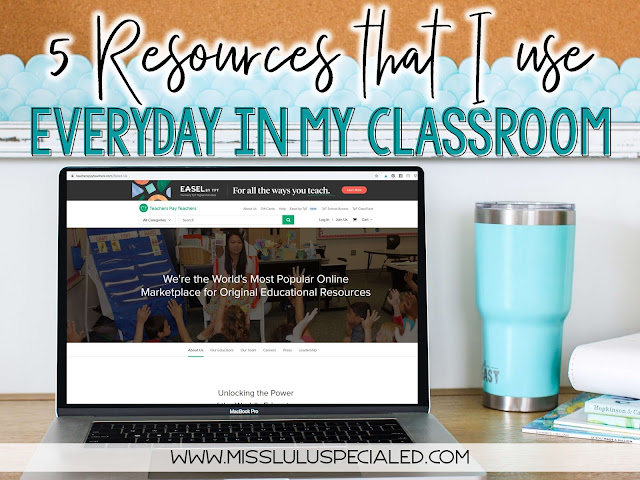 As a special education teacher, I am always looking for more materials. Here are 5 special education classroom resources that I use everyday.