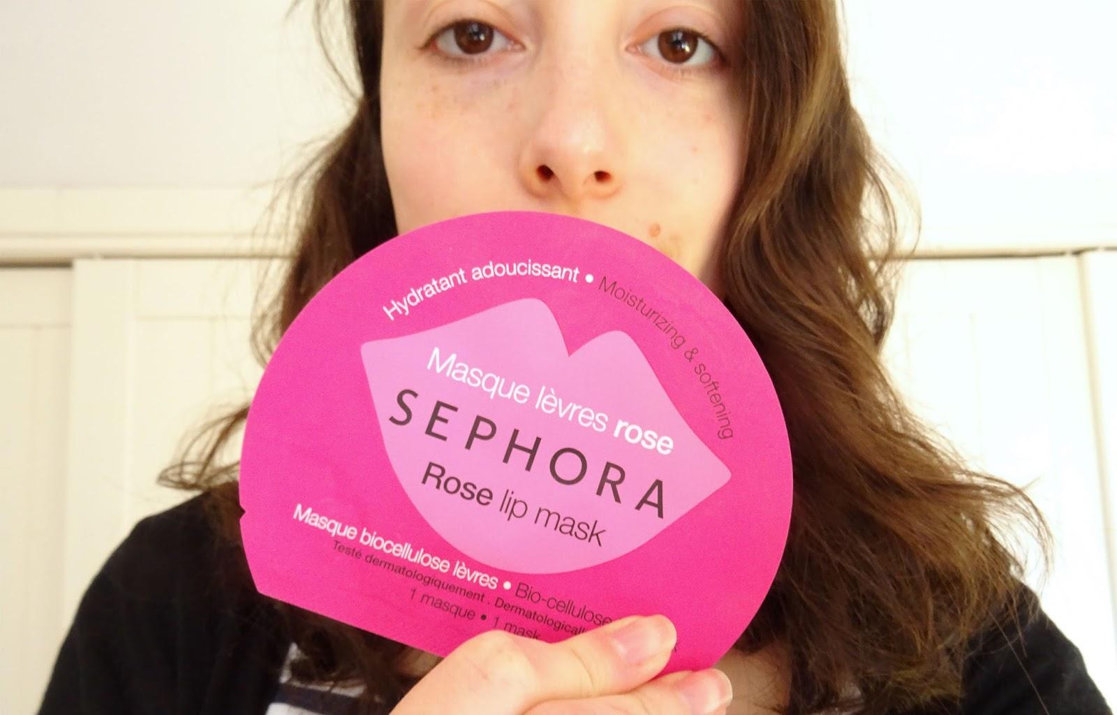 Le masque lèvres à la rose Sephora