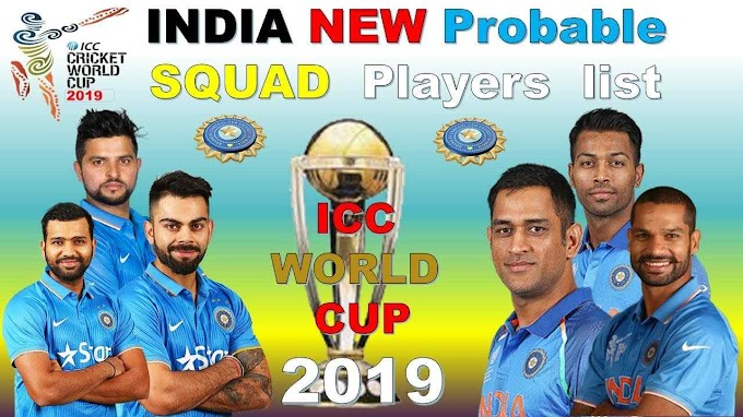 India World Cup Team 2019: India Sqaud for World Cup 2019 Announced