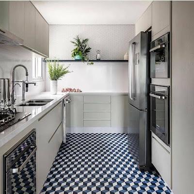 dapur cantik sederhana ruangan sempit
