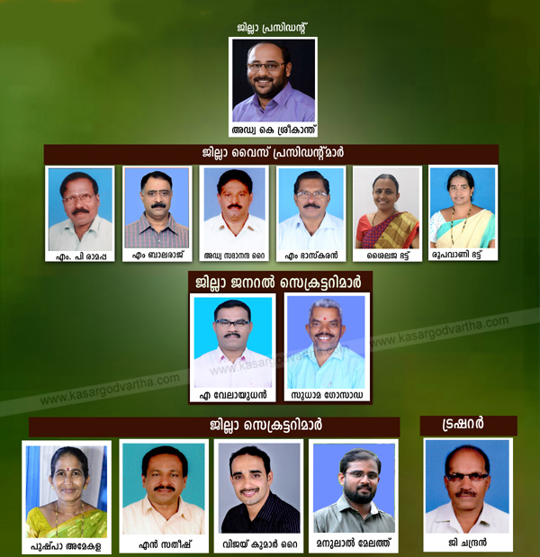Kerala, News,BJP Kasaragod district office bearers