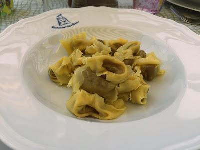 A dish of tortellini (Nodo d'Amore) at Alla Borsa restaurant in Valeggio sul Mincio.