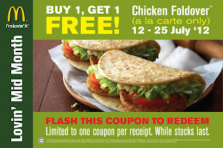 mcd - FREEBIES - [ENDED] Buy 1 FREE 1 Chicken Foldover