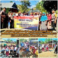 Polres Bima Distribusikan Air Bersih di Desa Samili Woha Kabupaten Bima