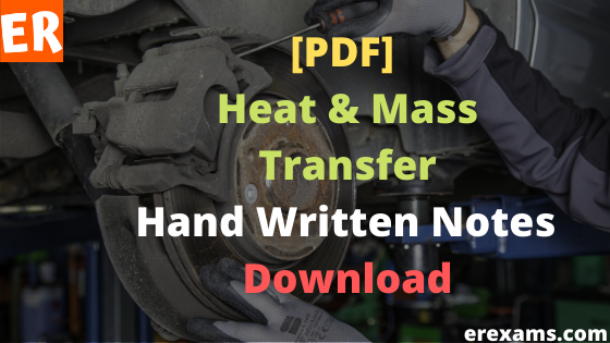 Heat & Mass Transfer Notes Free Pdf Download.