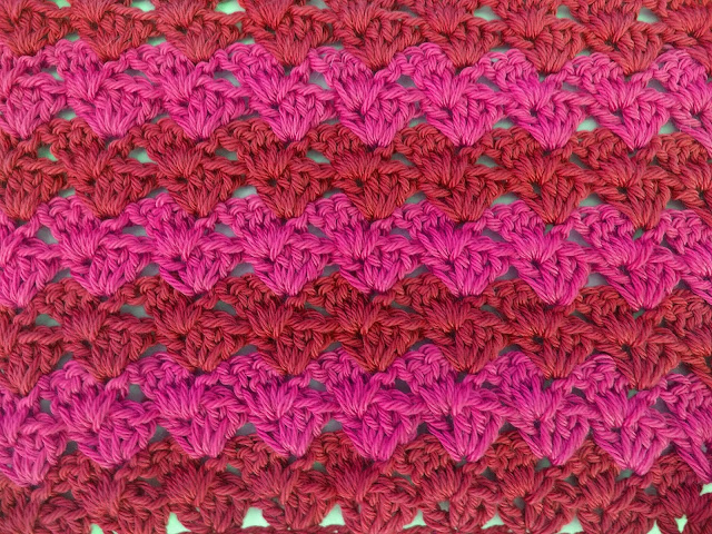 4 - Crochet Imagen Puntada a crochet a facil sencillo bareta paso a paso DIY puntada punto alto punto bajo