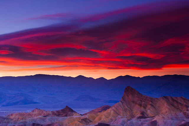 a photo of Zabriskie at Point Sunset in Death Valley National Park