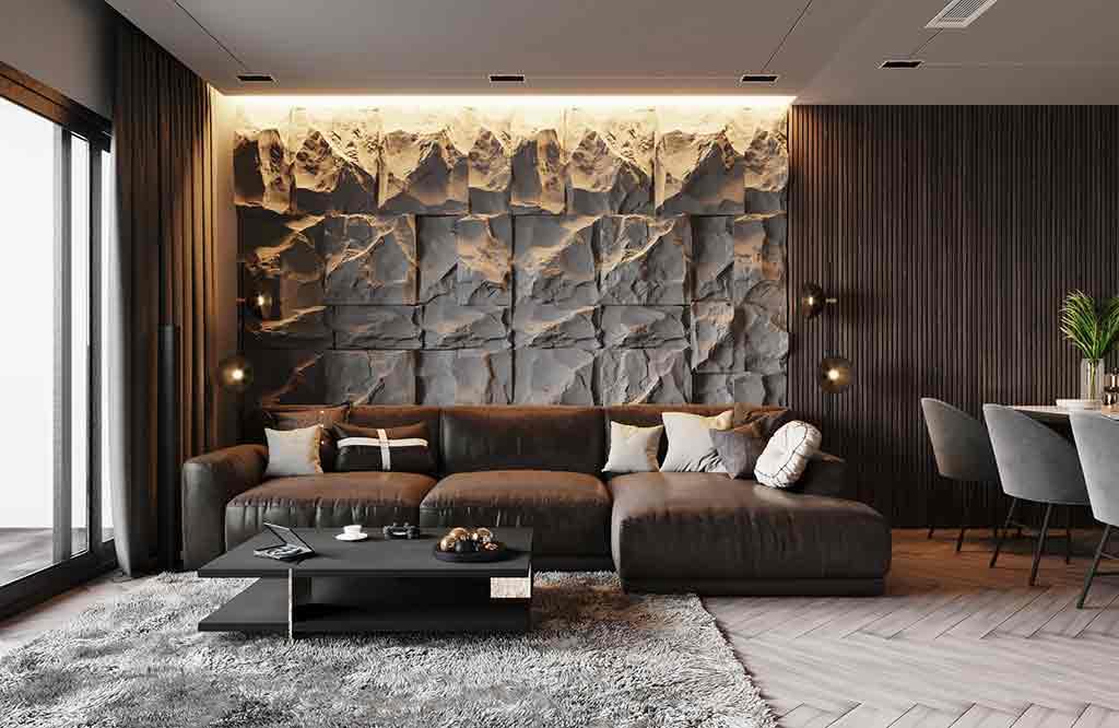 فن اختيار ديكورات حجر داخلي للمنازل العصرية