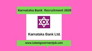 karnataka-bank-recruitment-2020, latest-govt-jobs,