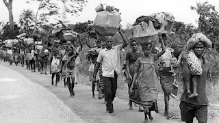biafran war victims fleeing