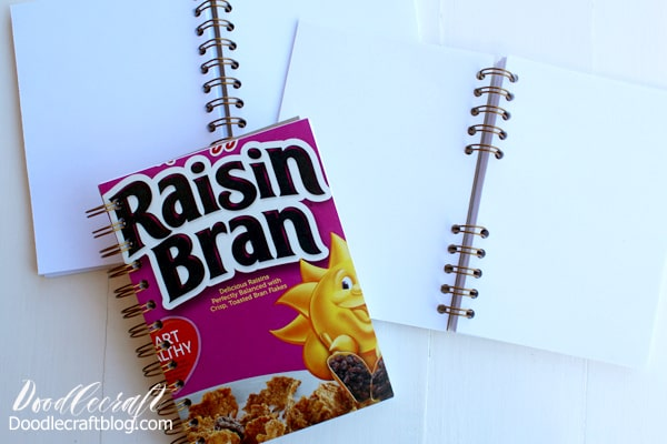 Take some old cereal boxes and make the perfect notebooks using the Cinch binding tool.