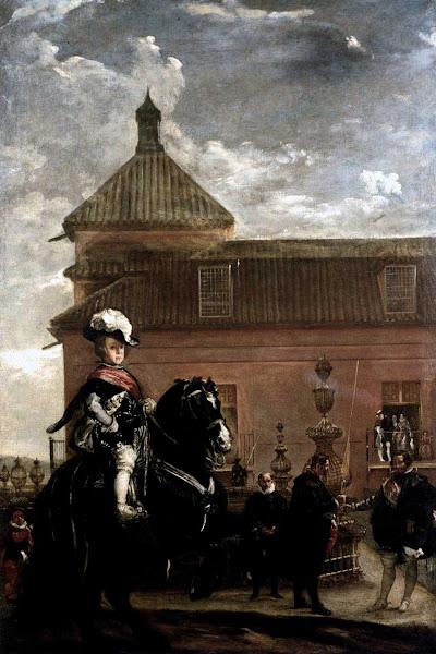 Диего Веласкес - Принц Бальтазар с герцогом оливарес у королевских конюшен (1636)