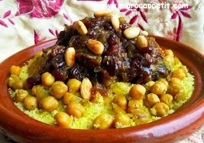 Couscous Tefaya et oignions caramélisés | Tefaya and caramelized onions couscous