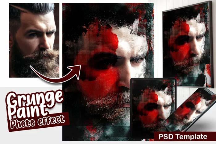 Grunge Photo PSD Template