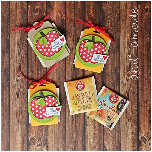 Apfel Goodies für Teebeutel DIY