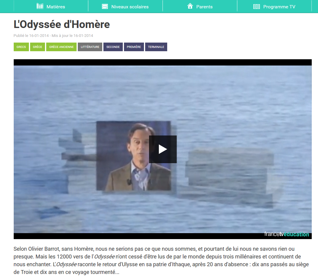 http://education.francetv.fr/litterature/seconde/video/l-odyssee-d-homere