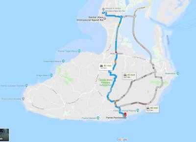 Akses ke Pantai Pandawa Bali