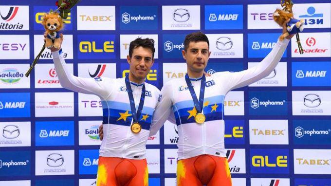 Albert Torres y Sebastián Mora se convierten en campeones de Europa de Madison por tercera vez