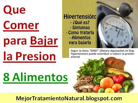 Que comer para bajar la presion dieta de 8 alimentos que - Alimentos para la hipertension alta ...