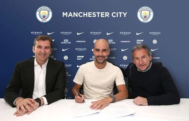 Guardiola's new Manchester City deal makes him Europe's highest-paid manager