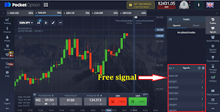 How to use free signals on Pocket Option