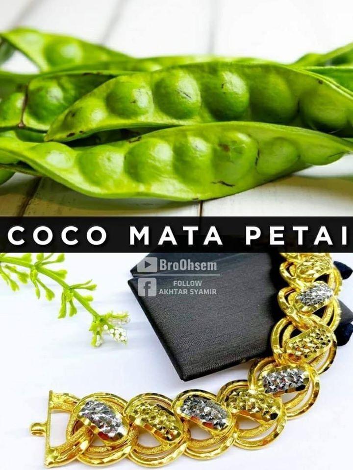 Gelang Emas Coco Mata Petai